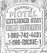 Rchard's Motel Extended Stay Logo Coloring Book