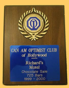 Richard's Motel Certificate
