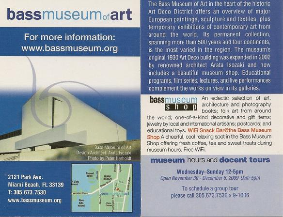 Bassmuseum of art
