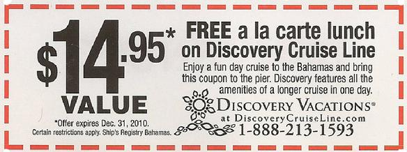 Discovery Cruise Line Coupon