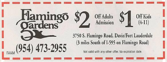 Flamingo Gardens Coupon