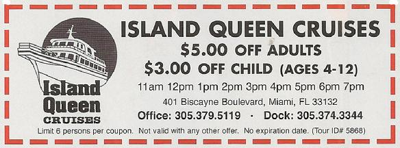 Island Queen Cruise Coupon