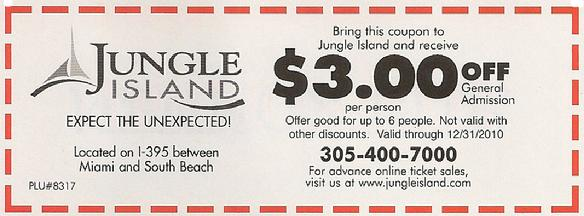 Jungle Island Coupon
