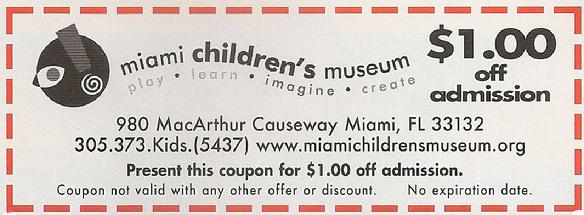 Miami Children Museum Coupon