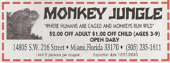 Monkey jungle coupons jacksonville