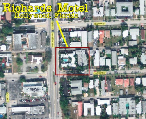 A bird view: Richard's Motel, Hollywood, Florida.