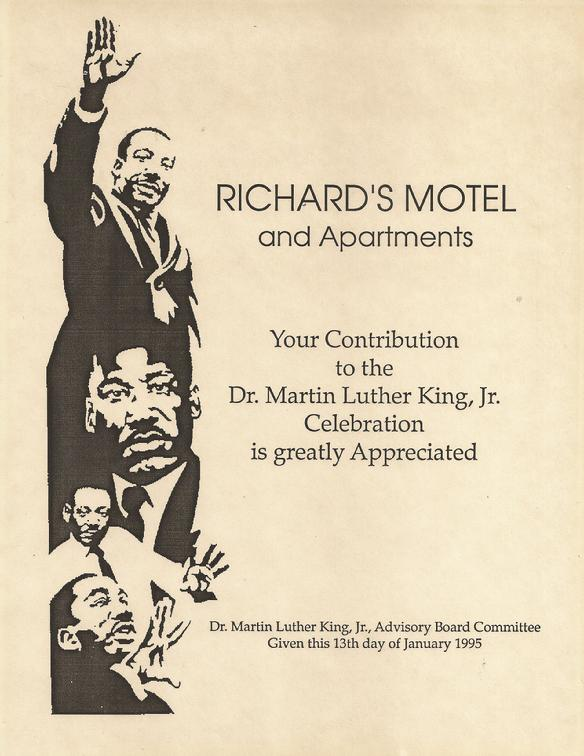 Martin Luther King and Richard's Motel