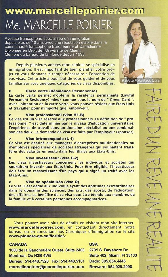 Marcelle Poirier lawyer avocat immigration