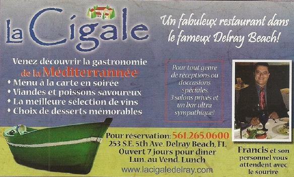 La cigale restaurant