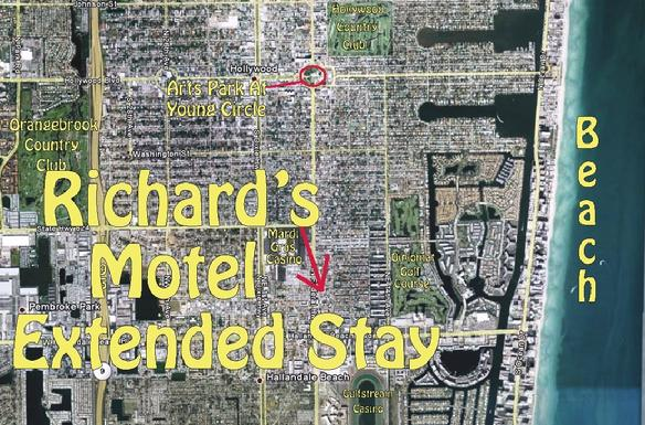 Une vue du ciel: Richard's Motel Extended Stay, Hallandale Beach, Florida.