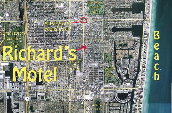 Une vue du ciel: Richard's Motel Hollywood, Florida, 33020 USA