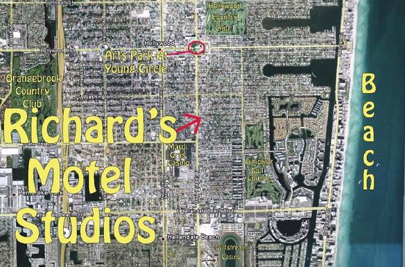 A skyview: Richard's Motel Studios, Hollywood, Florida.